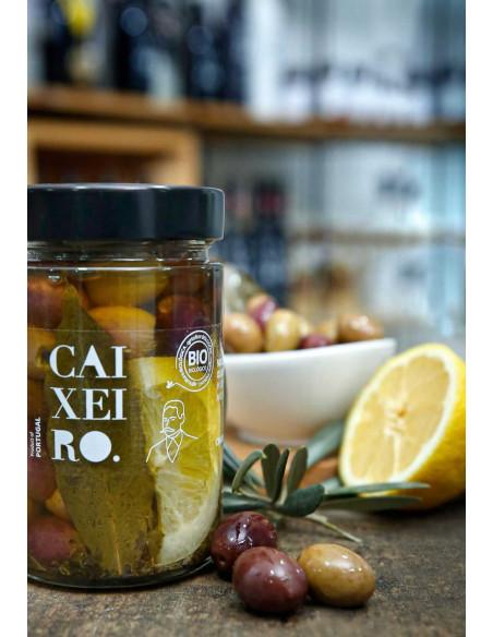 caixeiro bio oliwki z cytryną w zalewie z oliwy extra virgin 170g